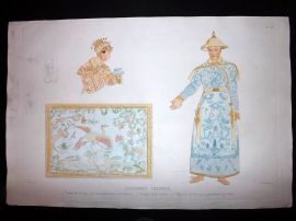 d'Urville 1835 Folio Hand Col Print. Chinese Costume, China